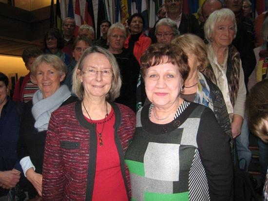 Von links: Evelyne Gebhardt (MdEP) und Nina Beck