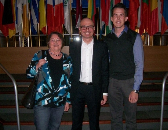 Dorothea Hertenstein, Peter Simon, MdEP, und Jonas Maurer